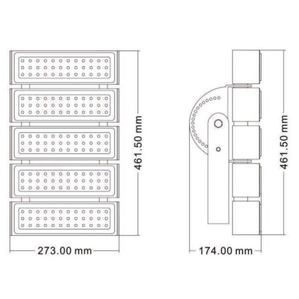 สปอร์ตไลท์ LED 400w (วอร์มไวท์) EVE