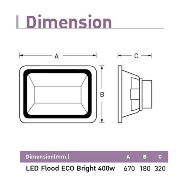 สปอร์ตไลท์ LED (ECO Bright) 400w (เดย์ไลท์) EVE