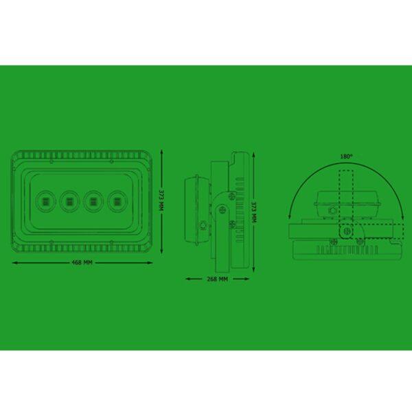 สปอร์ตไลท์ LED 200W (วอร์มไวท์) BIOBULB