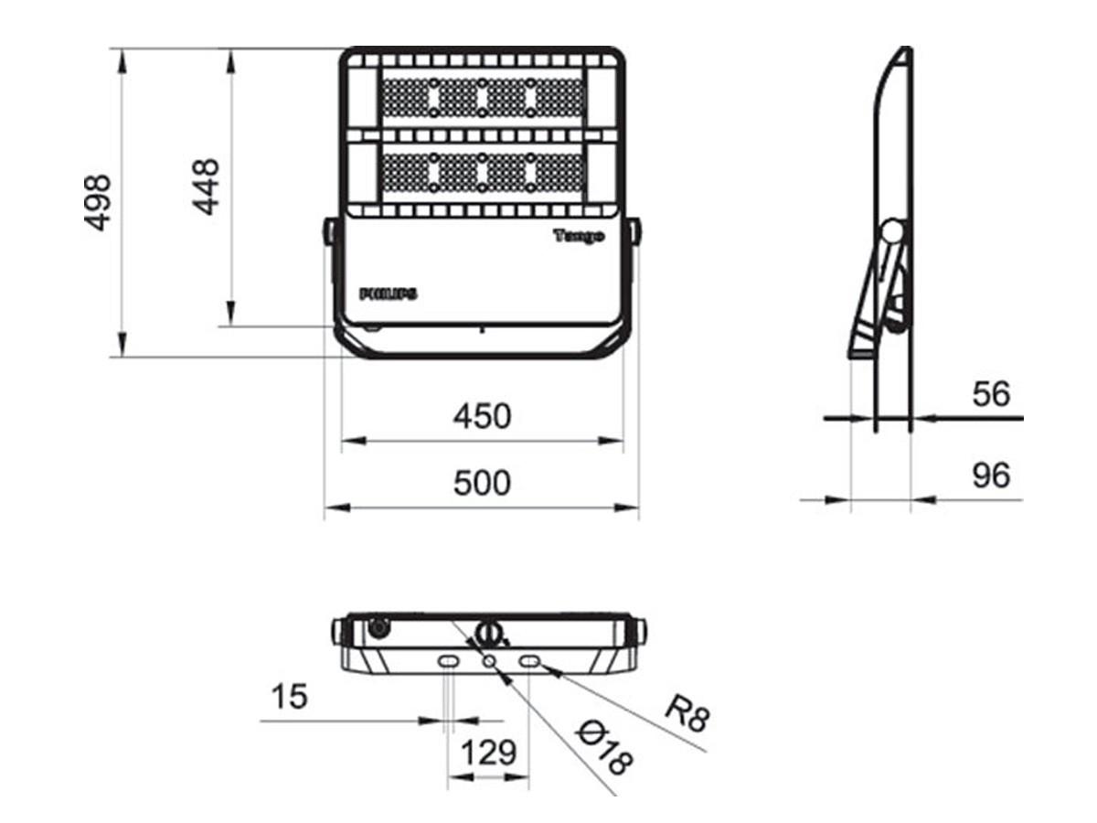 สปอร์ตไลท์ LED Philips BVP382 200w (CW)