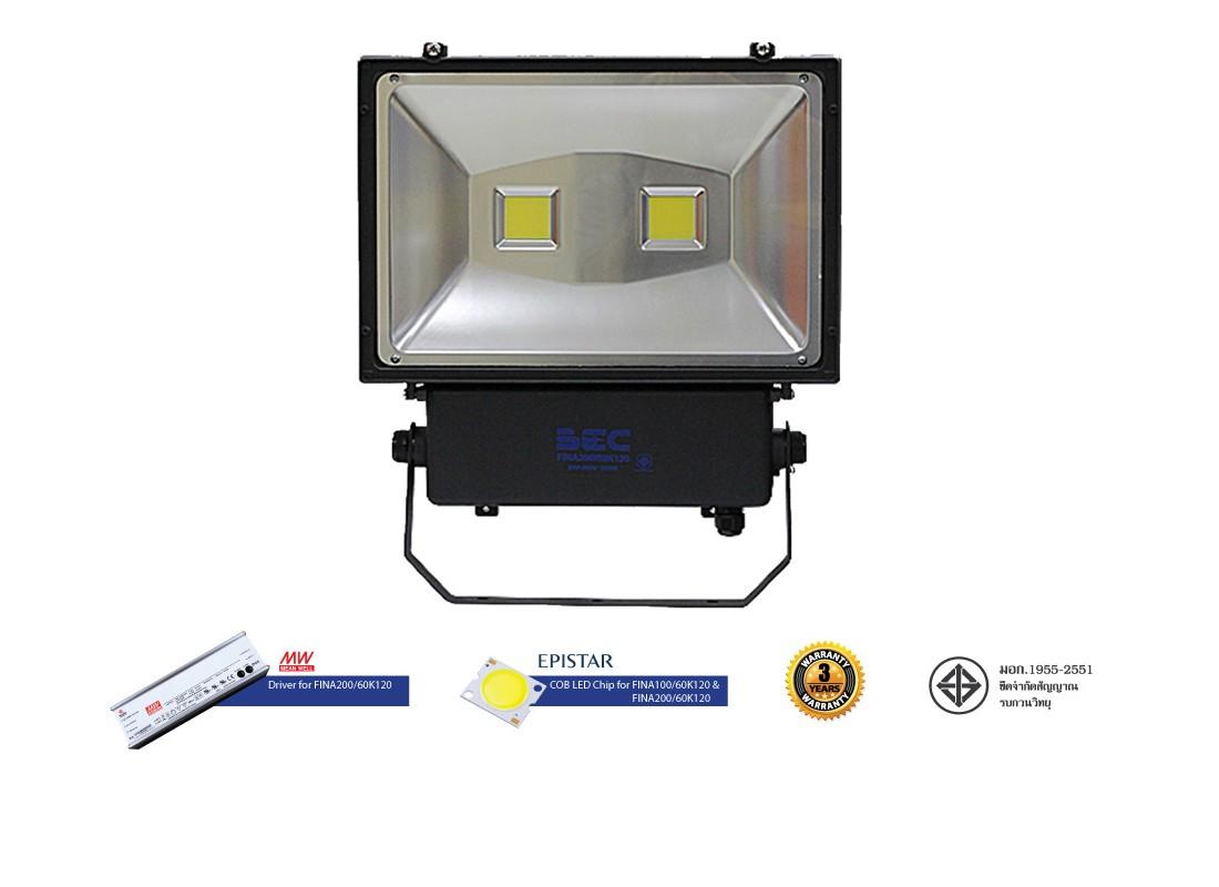 สปอร์ตไลท์ LED 200w FINA (เดย์ไลท์) BEC