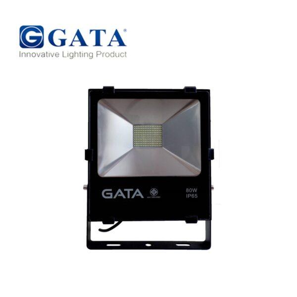 สปอร์ตไลท์ LED 80W SMD (วอร์มไวท์) GATA