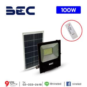 ไฟสปอร์ตไลท์ LED โซล่าเซลล์ 100W BEC CHEETAH