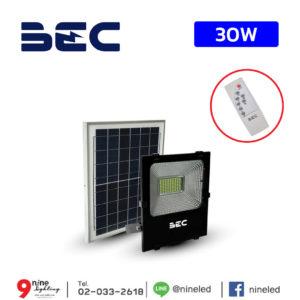 ไฟสปอร์ตไลท์ LED โซล่าเซลล์ 30W BEC CHEETAH